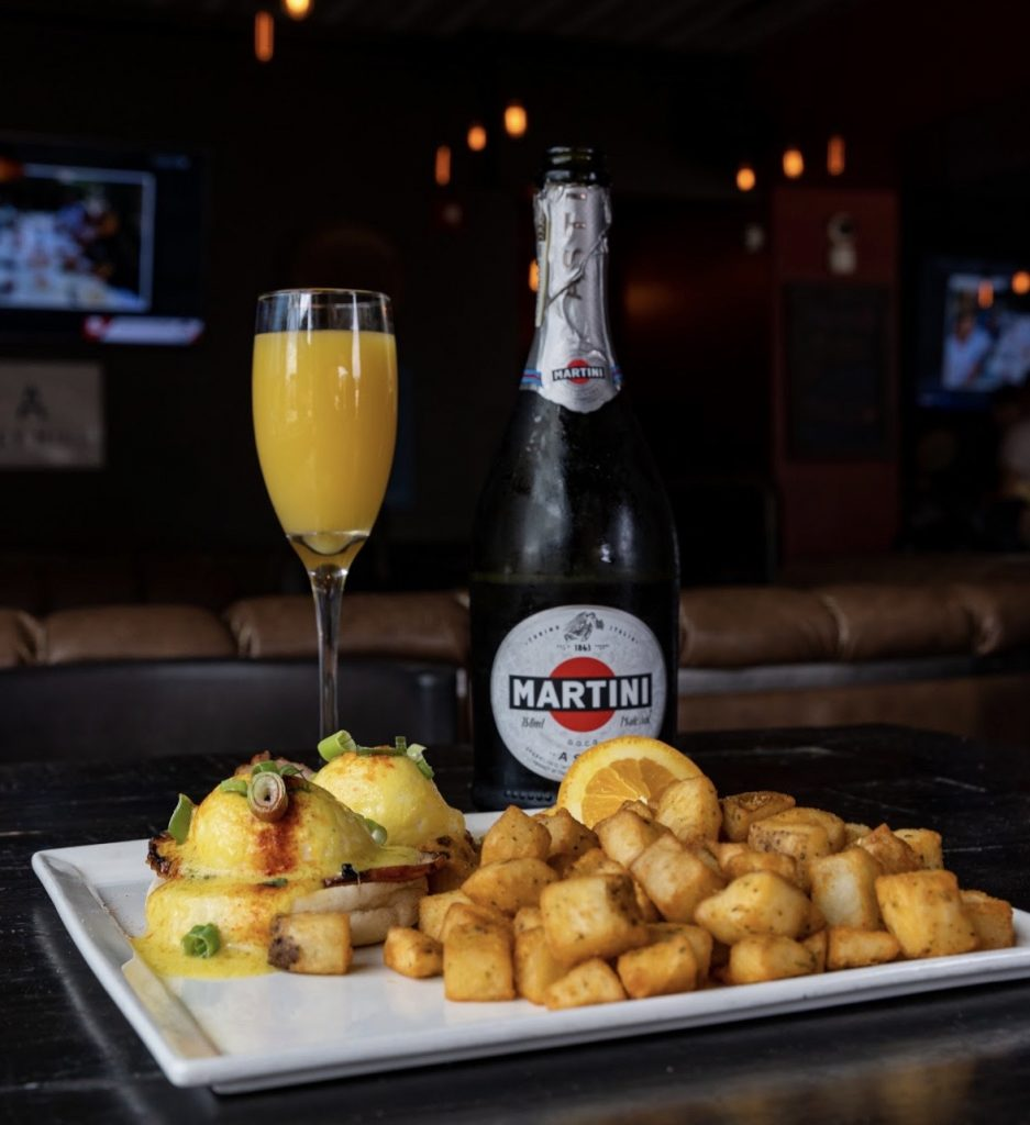 Eggs benny and mimosa